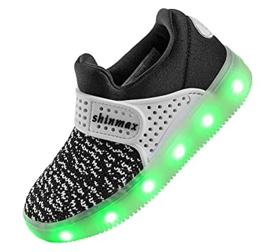 Shinmax LED Kid Shoes, LED Sneakers Sport Shoes Spring-Summer-Autumn  Breathable 7 4e4a3b023c28