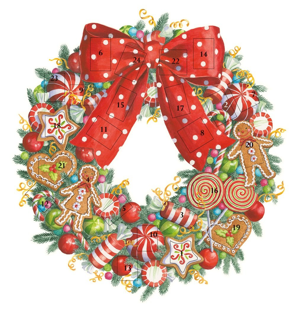 Entertaining with Caspari ADV262 Candy Wreath Advent Calendar is a lovely and festive tradition for any family to celebrate the days of December leading up to Christmas