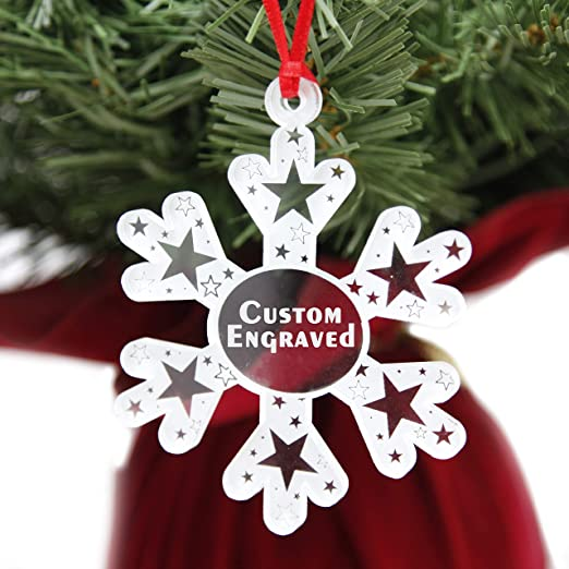 Clear Christmas Ornaments 2020 Amazon.com: LHS Engraving | Personalized Christmas Ornaments for