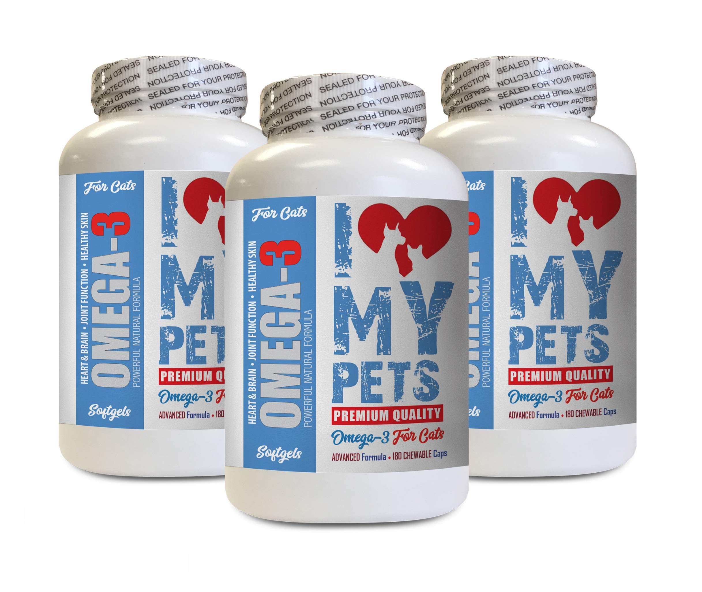 I LOVE MY PETS LLC cat Omega 3 6 9 - Omega 3 Fatty ACIDS for Cats - Best Health Option - Premium - Omega 3 for Cats Liquid - 540 Softgels (3 Bottles) by I LOVE MY PETS LLC