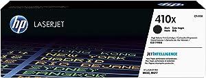HP 410X | CF410X | Toner Cartridge | Black | Works with HP Color LaserJet Pro M452 Series, M377dw, MFP 477 Series| High Yield