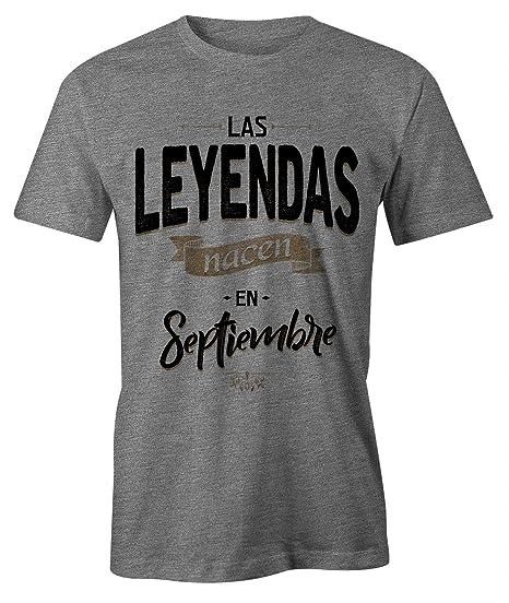 RiotBunny Las Leyendas Nacen en Septiembre Camiseta de Cumpleaños Hombres
