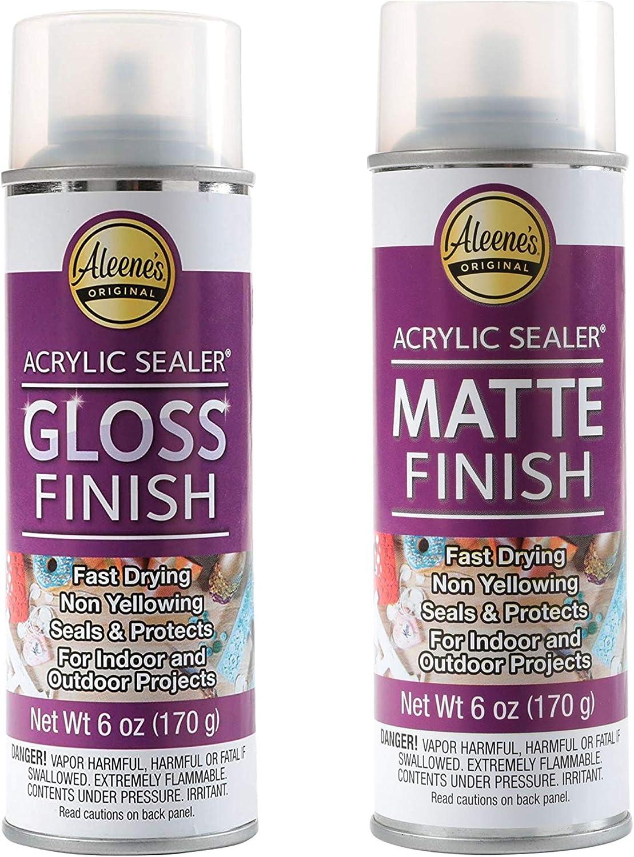 Aleene's Spray 6oz Acrylic Sealer (Matte and Gloss)