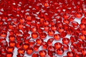 10000 pcs/Pack Wedding Table Scatter Confetti Crystals Acrylic Diamonds 4.5 mm Rhinestones for Wedding, Bridal Shower, Vase Beads Decorations (red)