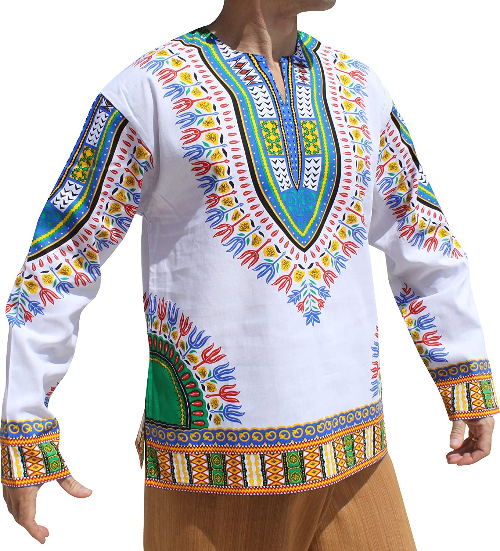 pah muang shirt メンズ b079wm5gn4 x large white blue green white