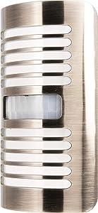 GE LED Night Light, Motion-Select Sensor, 40 Lumens, Dusk-to-Dawn, 25 ft. Detection Range, Ideal for Bedroom, Nursery, Bathroom, Louver, Brushed Nickel, 37299, Design