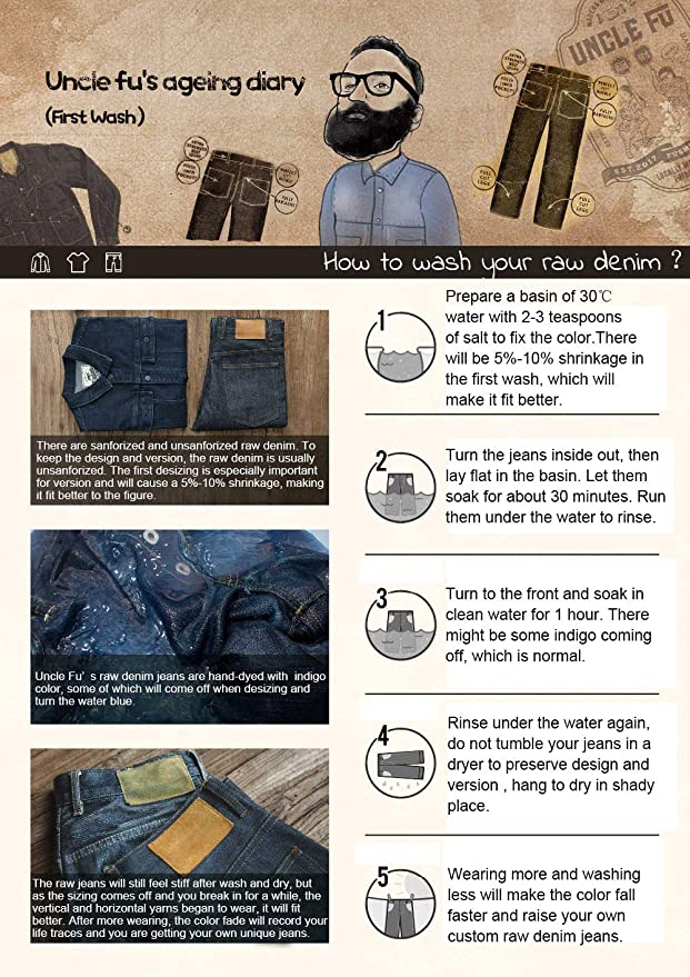 9480774caa9 MADEN Men's Vintage Slim Straight Leg Fit Indigo Raw Selvedge Denim Jeans  at Amazon Men's Clothing store: