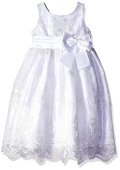 5430ca6b8f3 Amazon.com  Jayne Copeland Little Flower Girl-Embroidered Dress ...