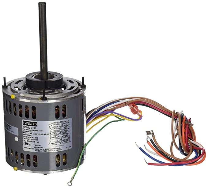 Fasco D701 5.6-Inch Direct Drive Blower Motor, 1/2 HP, 115 Volts, 1075 on