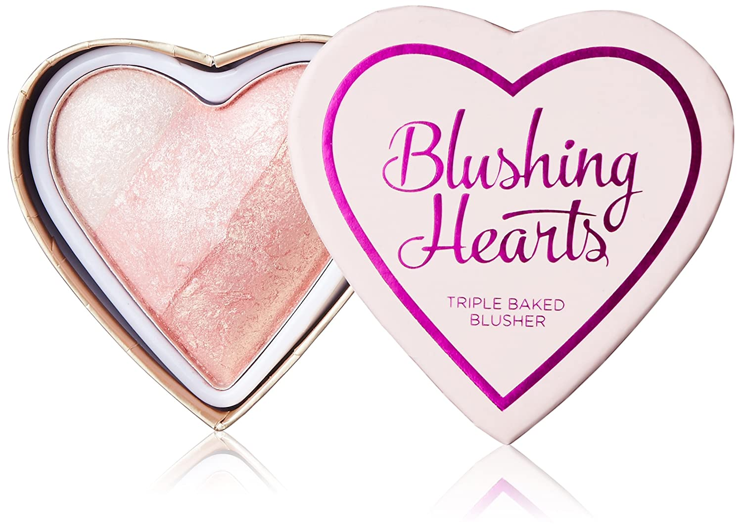 Makeup Revolution London I Love Makeup Blushing Hearts PotrĂljny rĂlĹz do policzkĂlw 10g - Iced Hearts Perfumeria 5029066053336