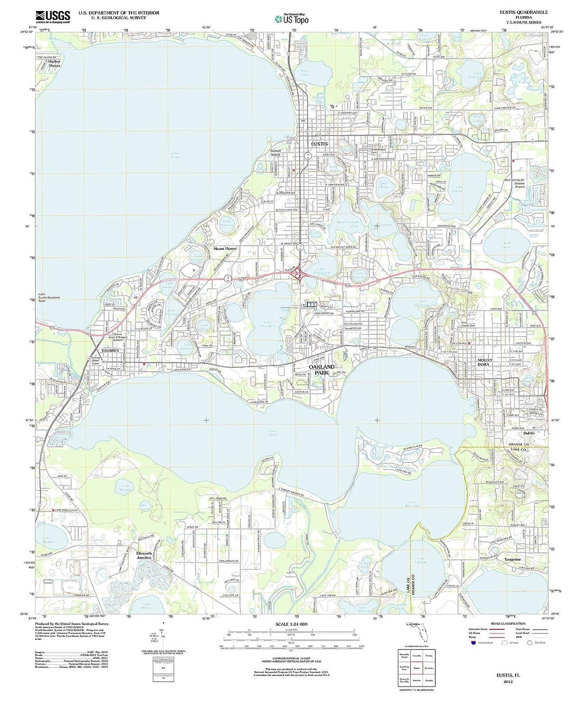 Eustis Florida Map.Amazon Com Usgs Historical Topographic Map 2012 Eustis Fl Fine