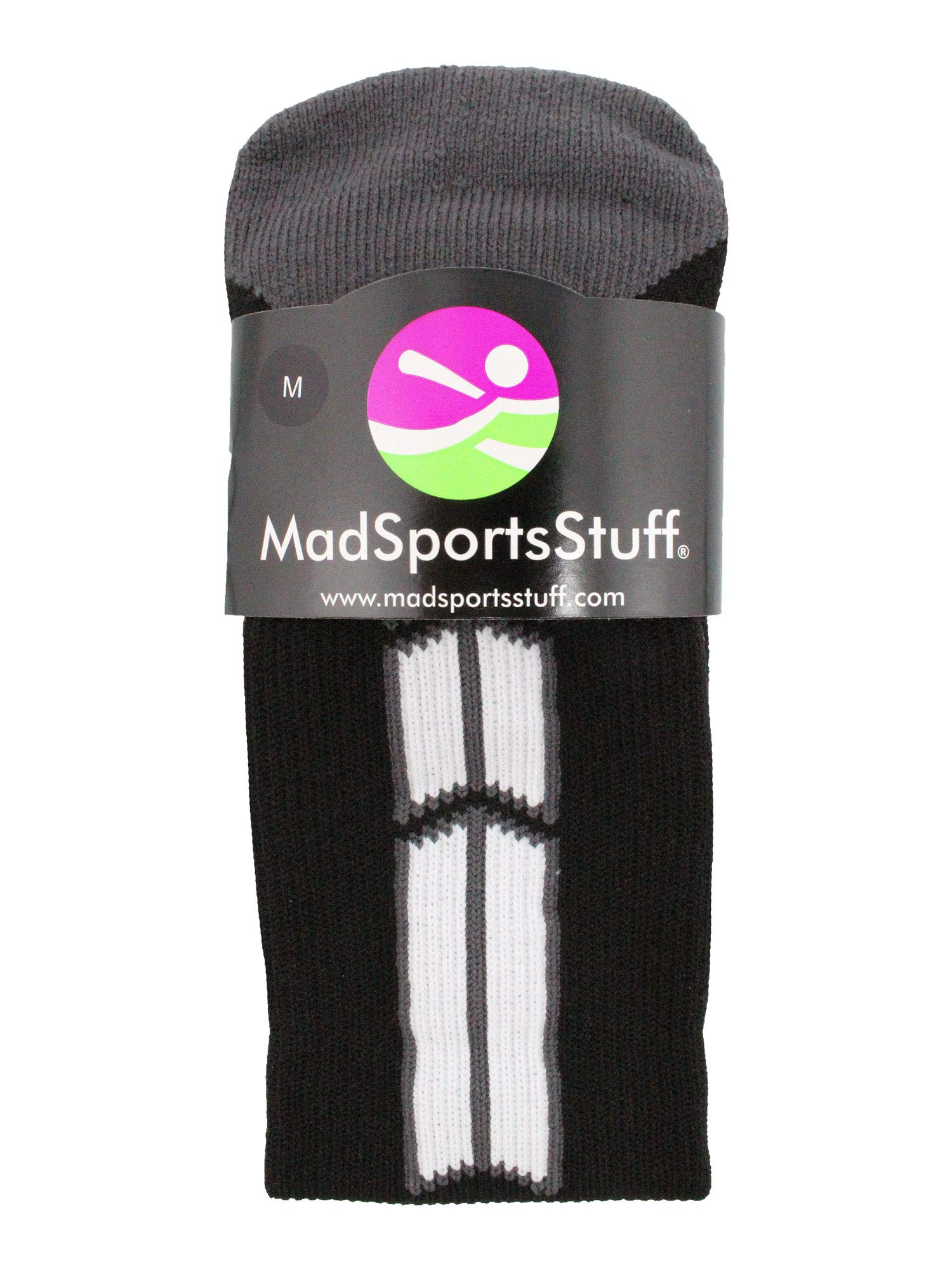 MadSportsStuff Player Id Black/White Over The Calf Number Socks (#07, Small) by MadSportsStuff (Image #3)