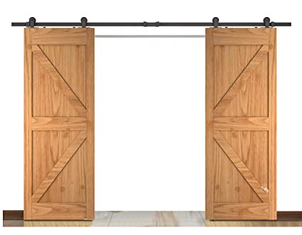 Amazon Diyhd 10ft Top Mount Double Barn Wood Interior Closet