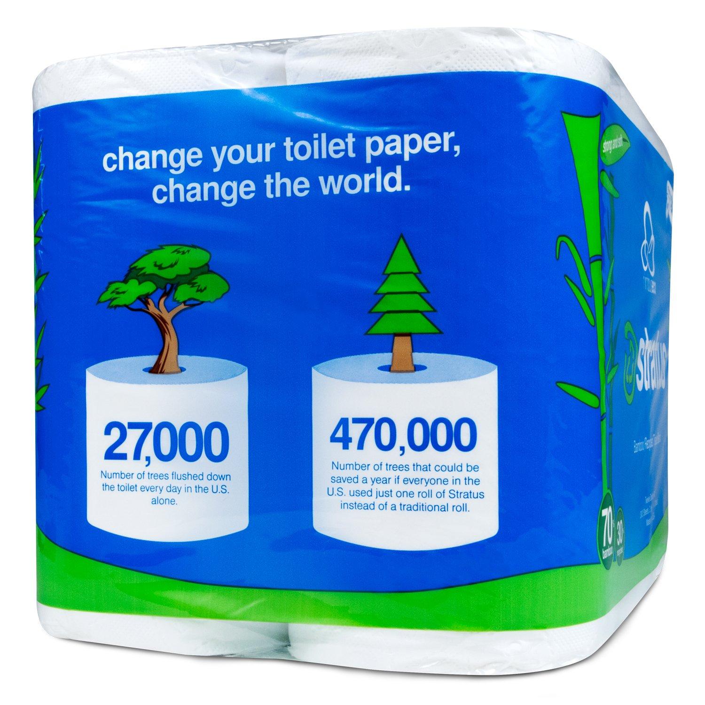 Nimbus Eco NES-300-48 48 Rolls Ultra Soft Eco Friendly Bamboo Toilet Paper, 1.08 Pound by Nimbus Eco (Image #2)