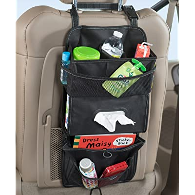 High Road TissuePockets Car Seat Organizer and Tissue Holder (Black): Automotive
