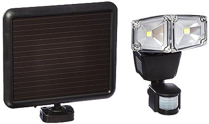 160 degree outdoor black dual lamp solar motion sensing security
