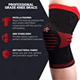 UFlex Athletics Knee Brace Support Sleeve with Side