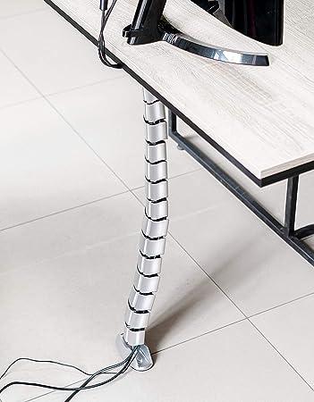 Hicab Vertikaler Kabelkanal Für Unter Dem Schreibtisch Silber Mit