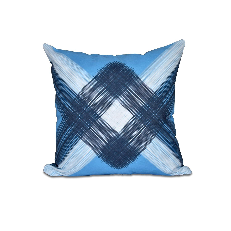 String Art E by design PGN450BL21BL14-18 18 x 18-inch Geometric Print Pillow 18x18 Blue