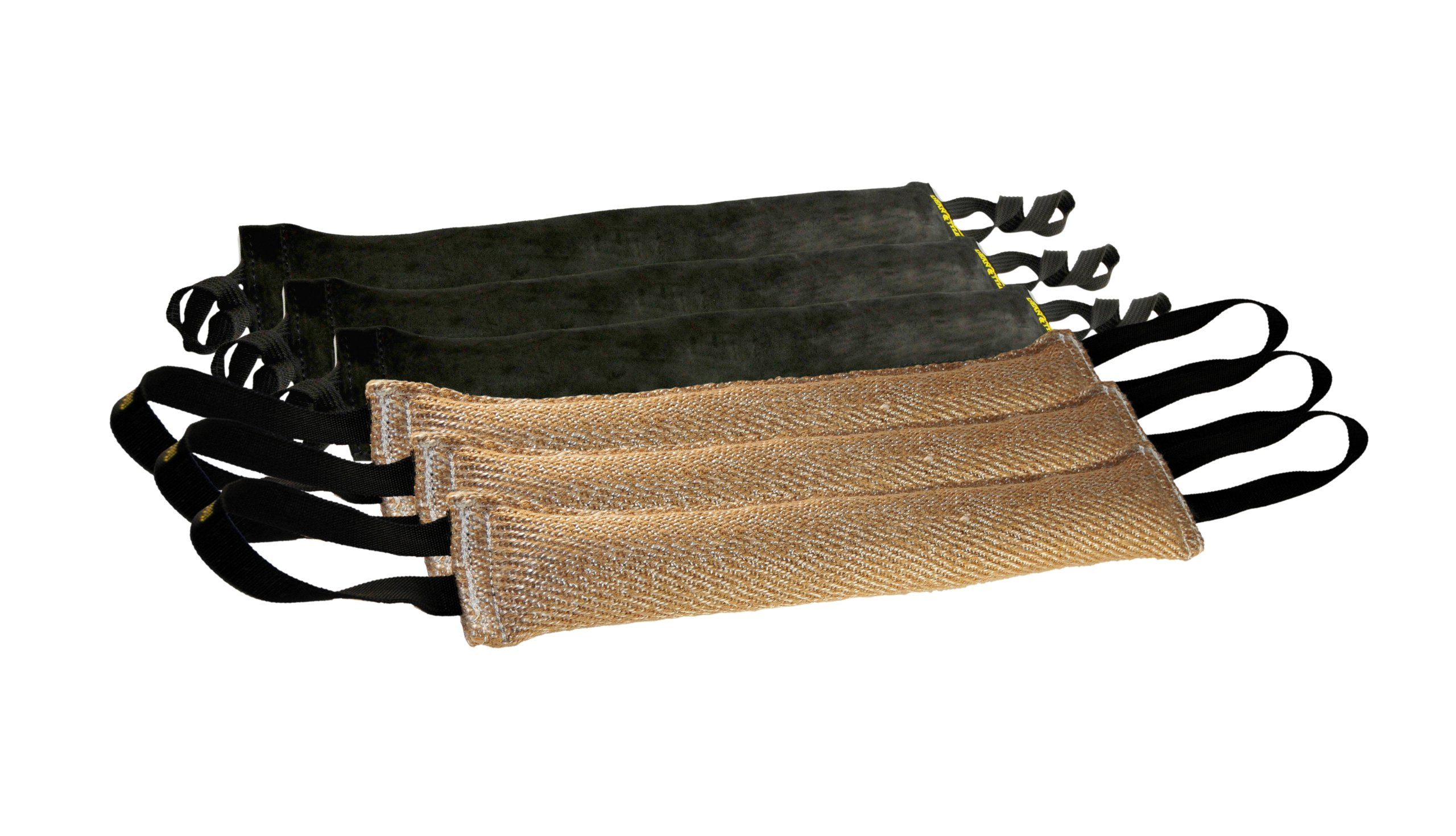 Dean & Tyler Bundle of 6 Tugs for Pets, 3-Jute and 3-Leather, 24-Inch by 4-Inch