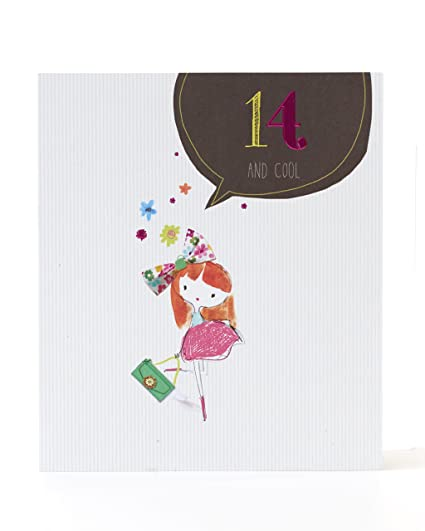 Christmas Gift Ideas For Girls Age 14.Age 14 Birthday Card Ideal Gift Card For Kids Girls