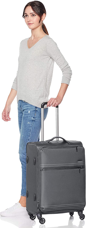 Basics Lightweight Softside Spinner Suitcase Luggage with Wheels