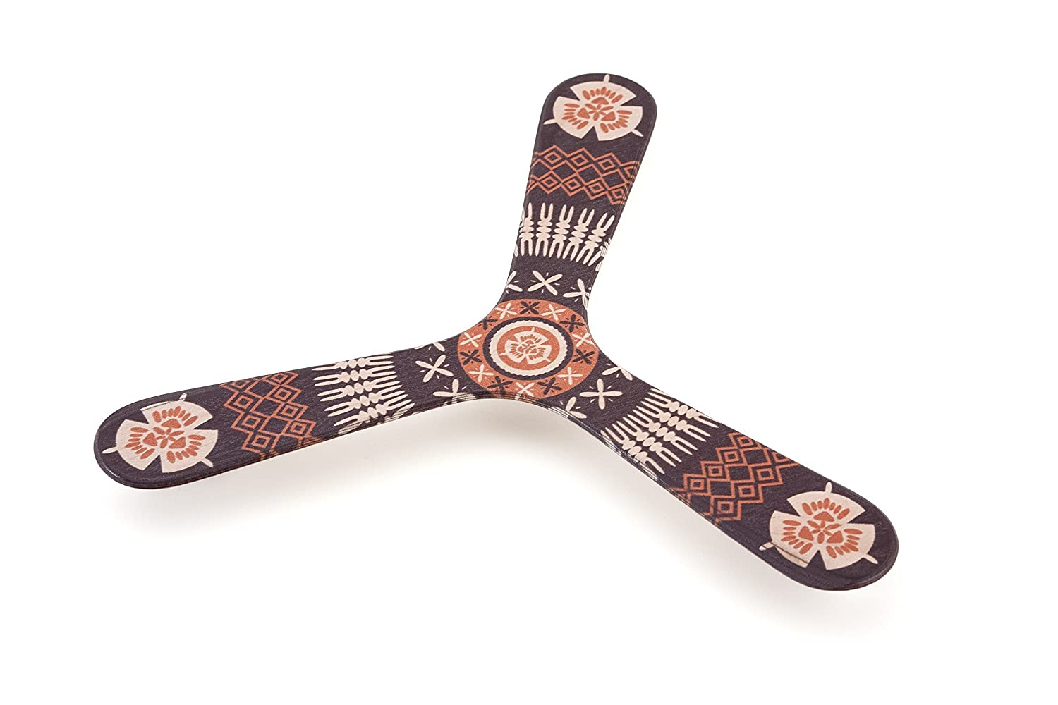 Fijian Island ethnics patterns, Handcrafted wooden boomerang for kids