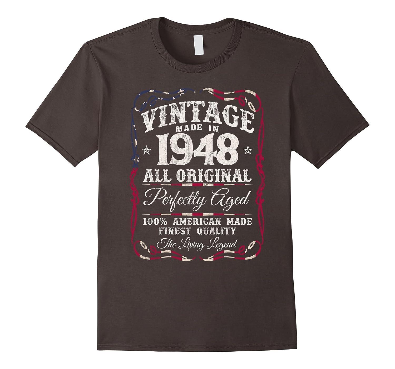 Vintage Made in 1948 T-Shirt 69th Birthday USA Flag-FL