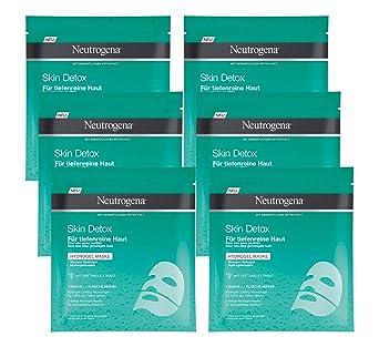 Neutrogena Skin Detox Máscara Hidrogel - 6 Unidades x 30 ml.