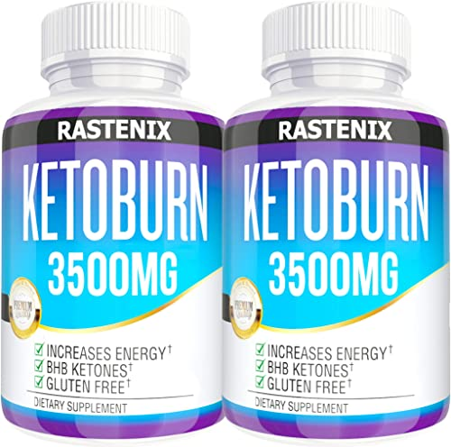 Keto Pills – 3X Potent 2 Pack 180 Capsules – Advanced Keto Burn Diet Pills – Boost Energy and Metabolism – Exogenous Keto BHB Supplement for Women and Men 2 Pack