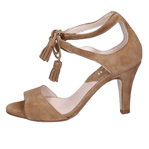 f941380695c4c2 KEYS Sandales Femme Daim Marron: Amazon.fr: Chaussures et Sacs