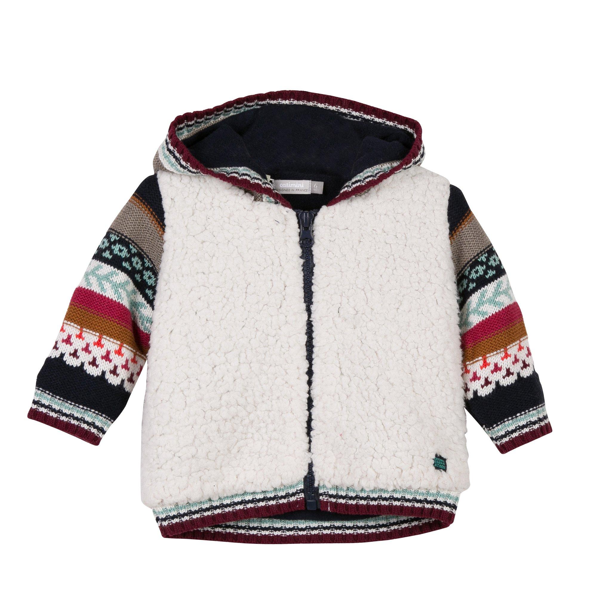 Catimini Cozy Sheepskin Nomad Hooded Cardigan (18 Months)