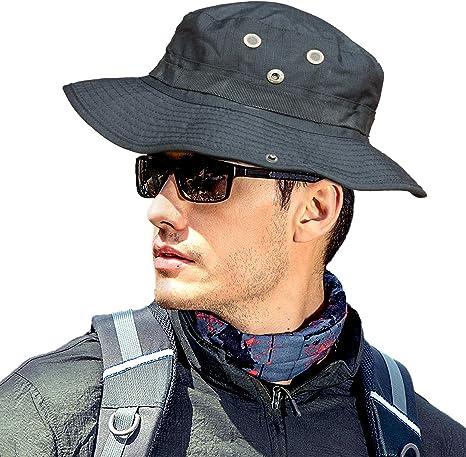 US Men/'s Summer Sun Hat Bucket Fishing Hiking Cap Wide Brim UV Protection Hat AI