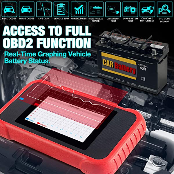 Launch CRP129E  has full OBD2 Functions.