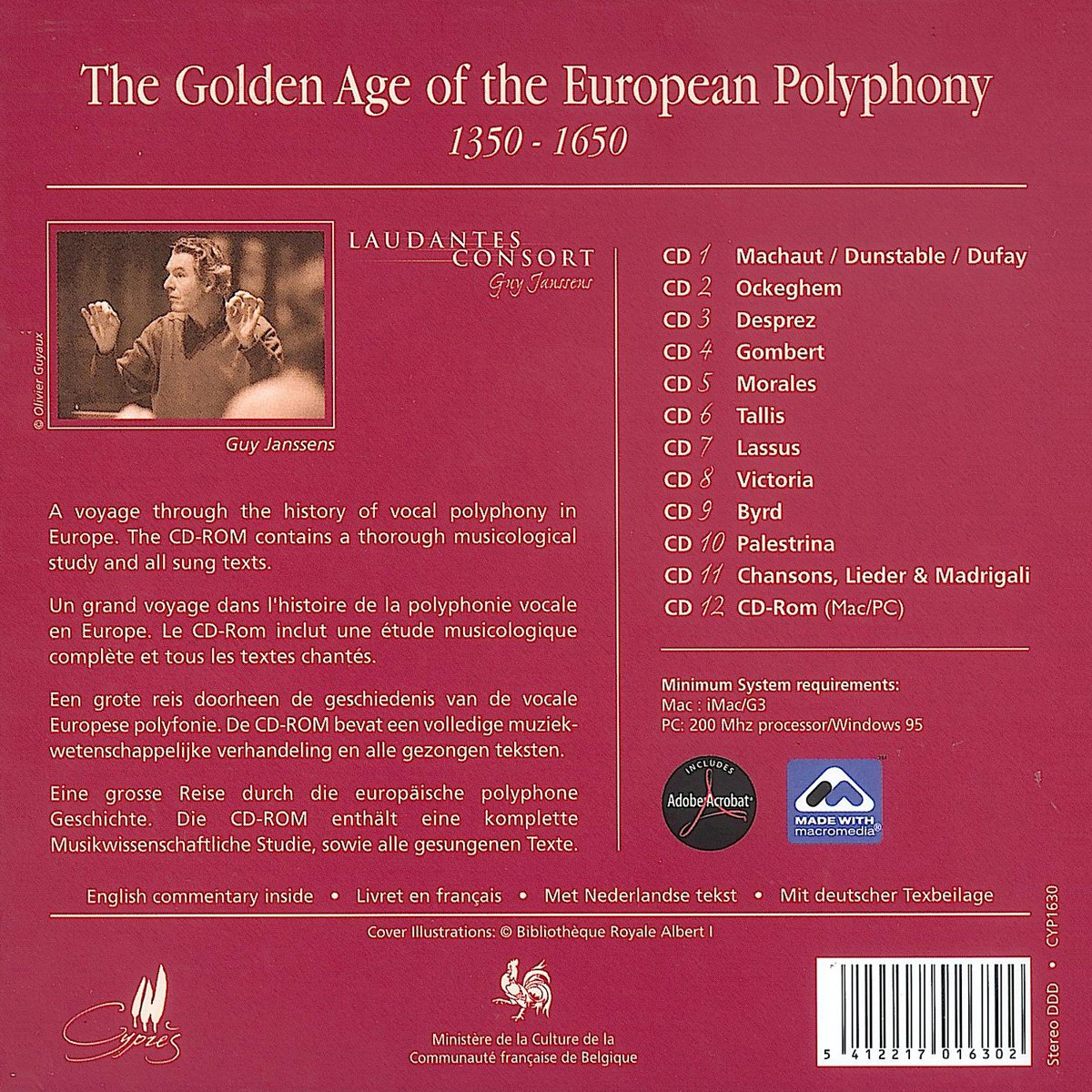 The Golden Age of the European Polyphony, 1350-1650