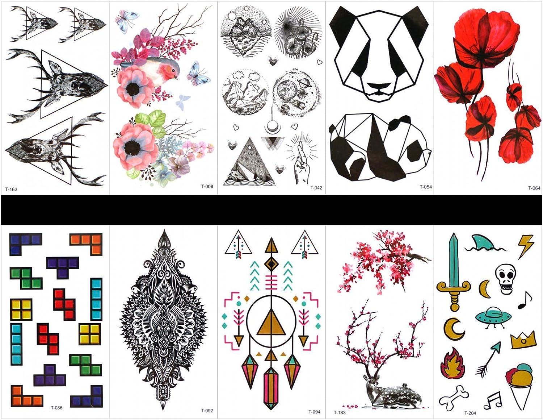 Hierba (Sunshine 10pcs tatuaje de color rojo de Wild fälschungs de ...