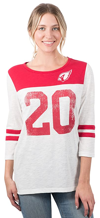Icer Brands NFL Arizona Cardinals Women s T-Shirt Vintage 3 4 Long Sleeve  Tee 5fc3fac26b