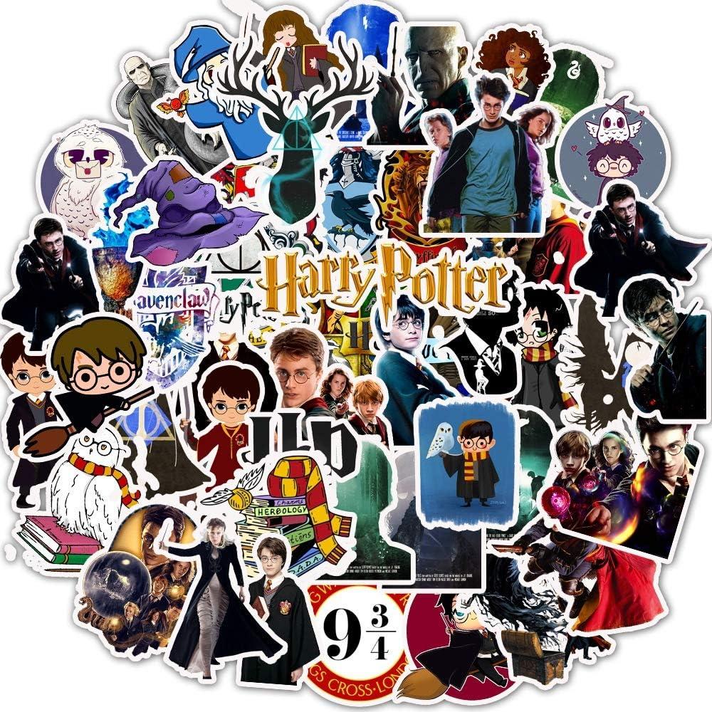 NOBRAND 50 Pegatinas De Personalidad De Harry Potter Pegatinas De Graffiti De PVC Maleta Equipaje Guitarra Coche Pegatinas A Prueba De Agua
