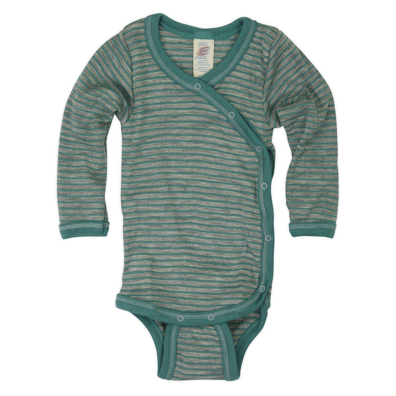 2 Farben Gr Engel Natur 50//56-110//116 Wolle Seide Baby Body langarm