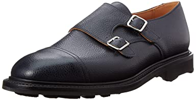 Mark McNairy Double Buckle Monk Shoes 9707: Army Grain Navy