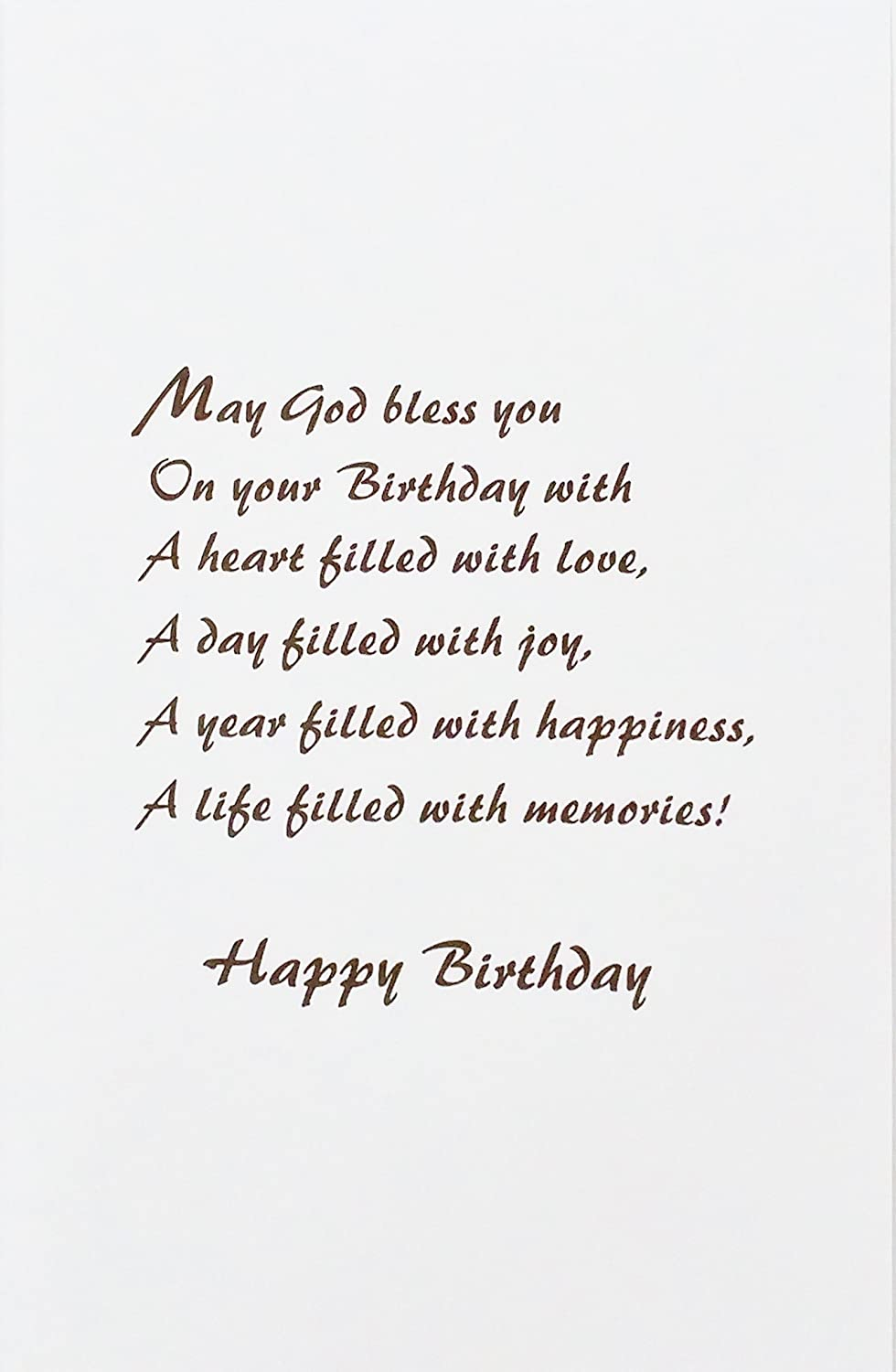Amazon The Lord Bless You On Your 80th Birthday Religious Greeting Card