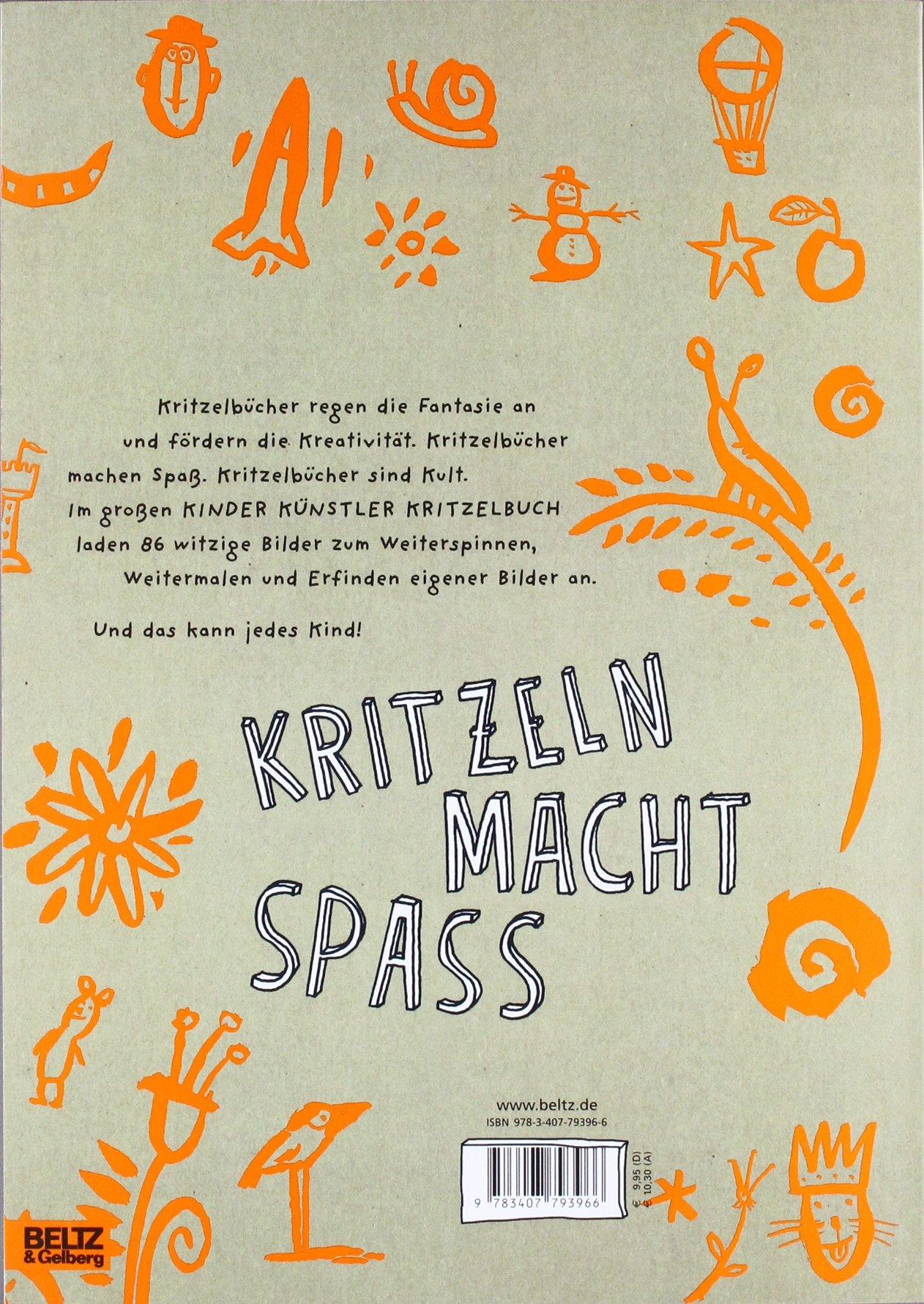 Kinder Künstler Kritzelbuch Anmalen Weitermalen Selbermalen Amazon Labor Ateliergemeinschaft Anke Kuhl Jörg Mühle Moni Port Philip Waechter