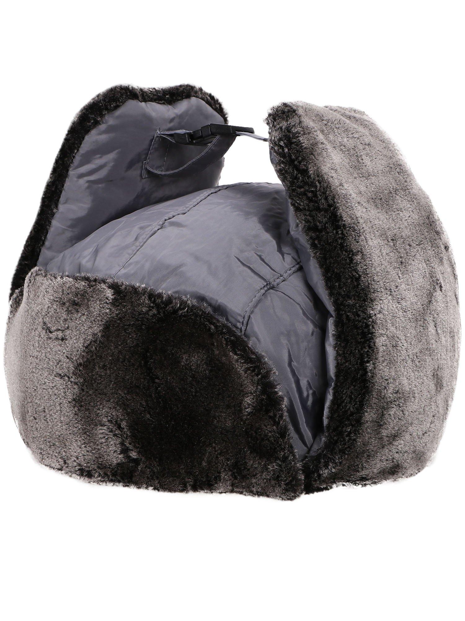 Verabella Winter Faux Fur Outdoor Trapper Cap Ushanka Russian Hats Windproof Facemask
