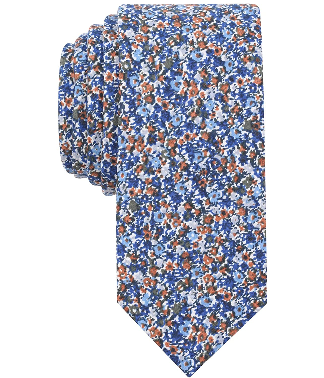 8c12e4a3a42 BAR III Rust Men s Dandy Floral Skinny One Neck Tie at Amazon Men s Clothing  store