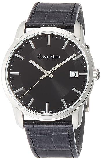 Calvin Klein Reloj Digital para Hombre de Cuarzo con Correa en Cuero K5S311C1: Amazon.es: Relojes