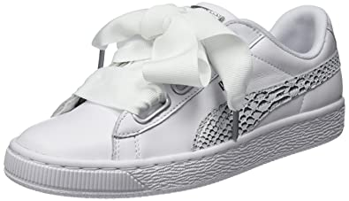 finest selection 4be9c e5fde Puma Women's Basket Heart Oceanaire Wn S White Leather ...