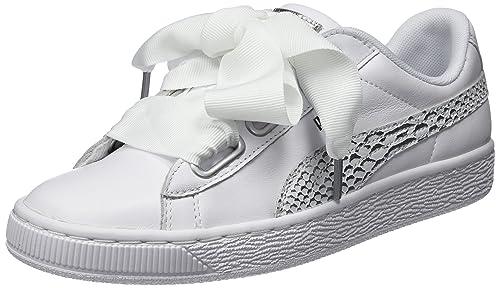 Puma Basket Heart Oceanaire, Zapatillas para Mujer: Amazon.es: Zapatos y complementos