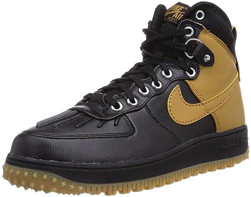 Nike Air Force 1 Duckboot - Botas para Hombre, Color Mehrfarbig (blck/Wht-mtllc slvr-gm lght BR), Talla 46: Amazon.es: Zapatos y complementos