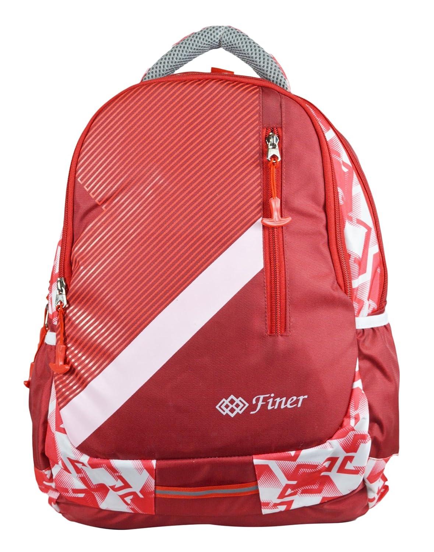 Finer Multipurpose Polyester Red Backpack