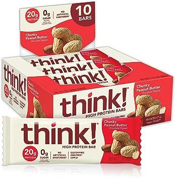 Think Thin Thin Bar, Chnky Pnut Btr, 59 g (Pack of 10): Amazon.es: Salud y cuidado personal